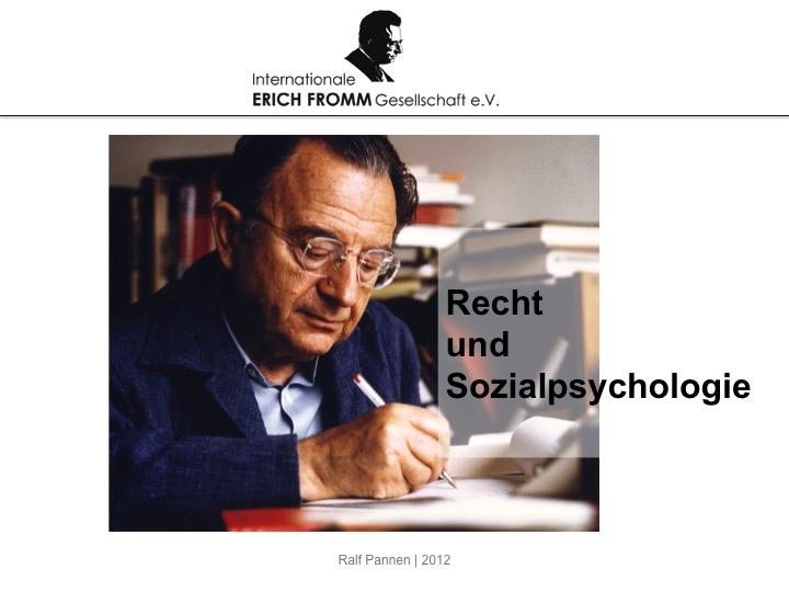 Recht und Sozialpsychologie (PowerPoint)