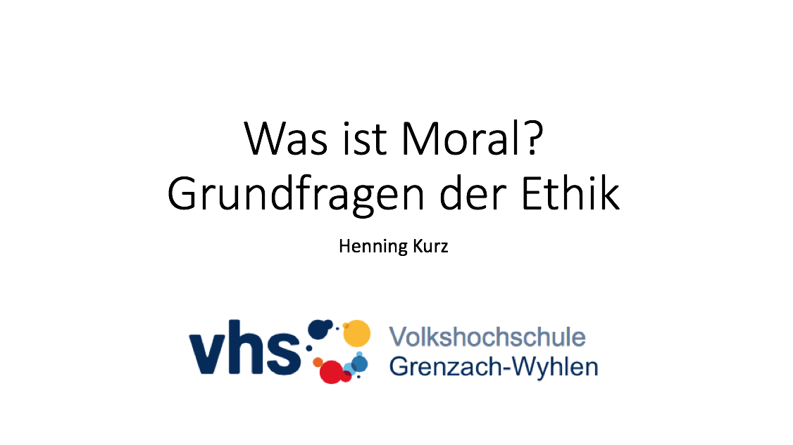 Was ist Moral